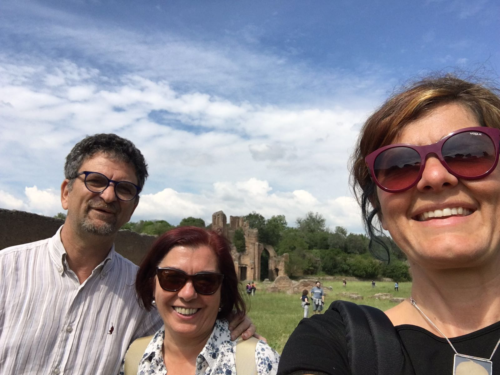 Ferrante Donati Bonfanti al circo di Massenzio durante la visita guidata